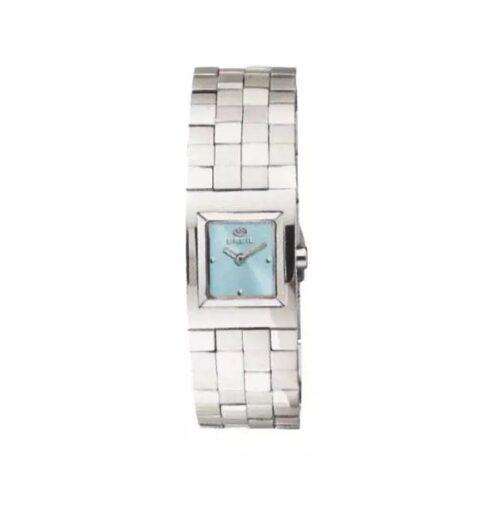 Orologio Donna Breil BW0188 della collezione Midtown con cassa in acciaio 20 mm, cinturino in acciaio a scacchi e quadrante celeste.