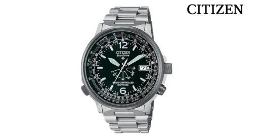 Orologio Cronografo Citizen Pilot AS2031-57E movimento Eco Drive (a carica Luce Infinita), radiocontrollato. Riserva di carica di 2 anni.
