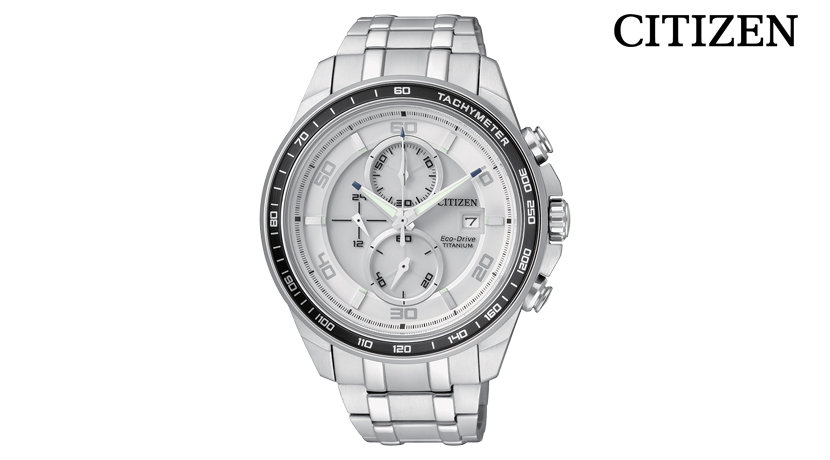 Orologio Cronografo Citizen Super Titanio CA0340-55A Movimento Eco-Drive a carica luce infinita. Cassa e bracciale in SuperTuitanio Ti+IP, vetro zaffiro, fondo serrato a vite. Resistenza all'acqua: 10 bar. Dimensione di Cassa: 43 mm