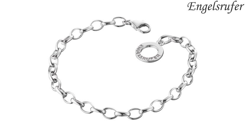 Bracciale in argento Engelsrufer realzzato in argento 925 rodiato. Chiusura a moschettone. Disponibile in due misure: 19,5 cm o 20,5 cm.