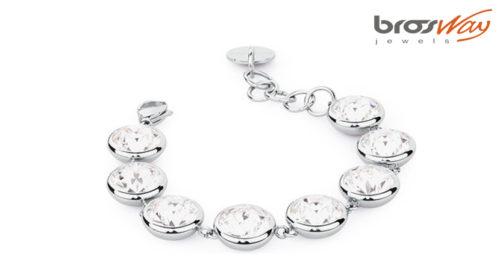 Il bracciale Brosway B-Tring Bianco è realizzato in acciaio 316L e cristalli bianchi Swarovski® Elements. Referenza articolo BTN46.