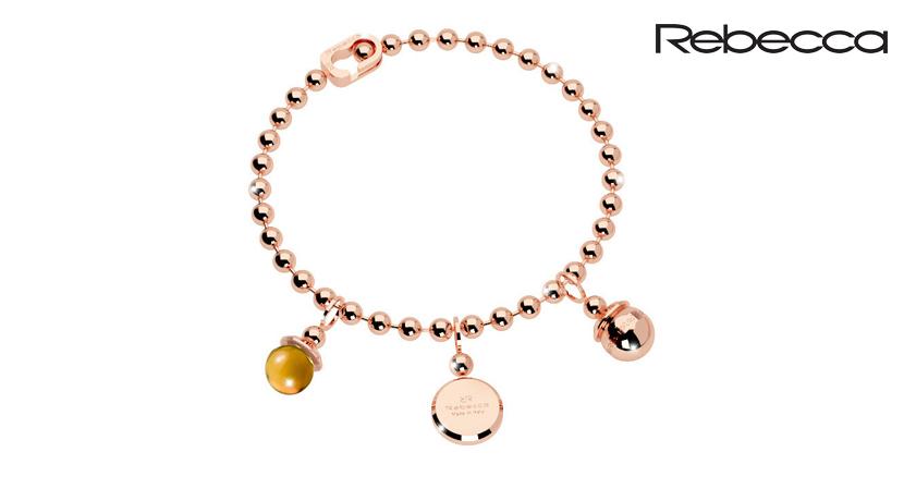Il bracciale Rebecca Boulevard Stone è un bracciale da donna Rebecca della collezione Boulevard Stone realizzato in bronzo placcato oro di colore rosa con pietra idrotermale citrino.