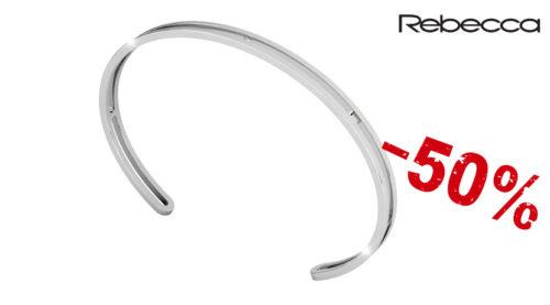 Il bracciale uomo Rebecca in argento 925 è rigido con interno traforato. Il bracciale è regolabile. La referenza è SAMBAA01