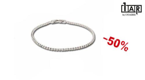 Bracciali in offerta - Il bracciale Unoaerre Luxury è un bracciale da donna realizzato in ottone rodiato e zirconi.