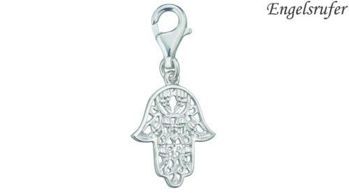 Lo Charm Mano di Fatima Engelsrufer è l'ideale per personalizzare un bracciale da donna. È realizzato in argento 925 rodiato con moschettone. Lungo 14 mm