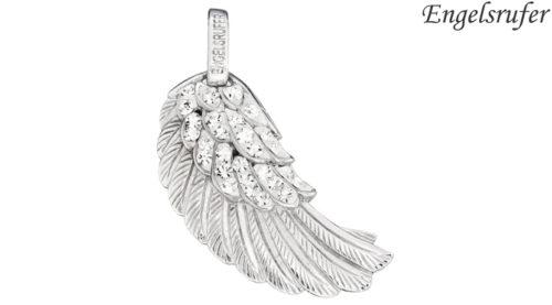 Ciondolo Ala Engelsrufer Argento con Crisalli realizzato in argento 925 rodiato, 44 cristalli e occhiello, raffigurante l'ala di un angelo