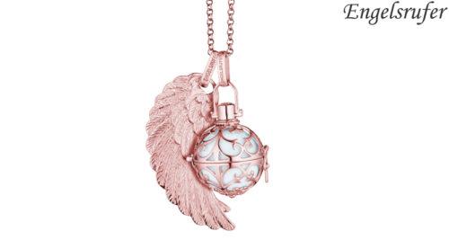 Ciondolo Ala Engelsrufer rosè realizzato in argento 925 rodiato colore rosè con occhiello, raffigurante l'ala di un angelo. Disponibile nelle dimensioni S (23 mm) - M (29 mm) - L (45 mm).