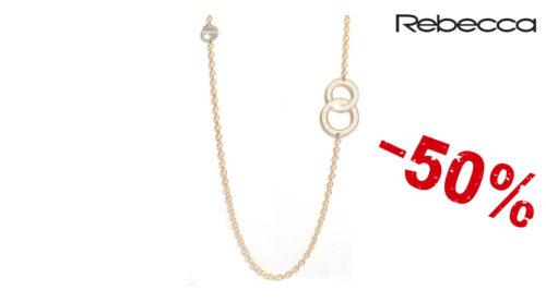 Collana donna Rebecca Soleil in acciaio inossidabile lunga 80 cm colore oro in vendita a metà prezzo. Disponibilità limitata