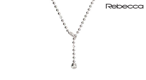 Collana Rebecca Hollywood con catena a sfere e ciondolo con pietra regolabile
