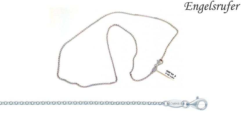 Collana Rolò Engelsrufer realzzata in argento 925 rodiato. Chiusura a moschettone.