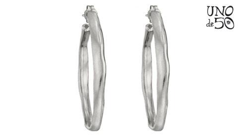 Orecchini Uno de 50 Ohmmm PEN0419MTL0000U in argento interamente realizzati a mano.
