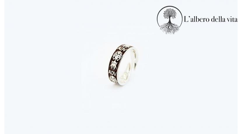 Anello in argento 925 1F-ADV Albero della Vita. Disponibile nelle misure 12 - 14 - 16.