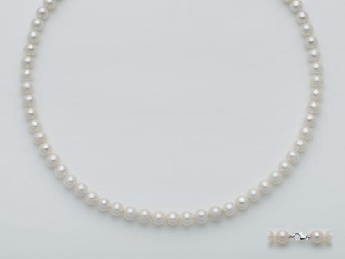 Collana Yukiko donna PCL4196Y in oro bianco 750/1000 con perle.