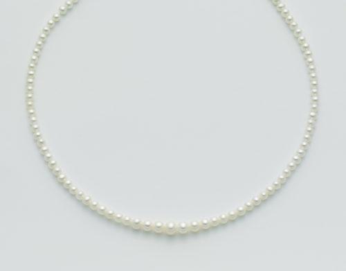 Collana Yukiko Perle donna PCL2212Y in oro bianco 750/1000 con perle di colore bianco 4 - 7 microfusione.
