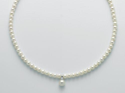 Collana Yukiko donna PCL5528Y in oro bianco 750/1000