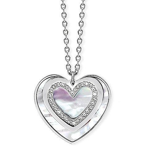 Collana Donna 2Jewels collezione Stéphanie 231592 in acciaio 316L e cristalli, con pendente a forma di cuore. Lunghezza 80 cm.