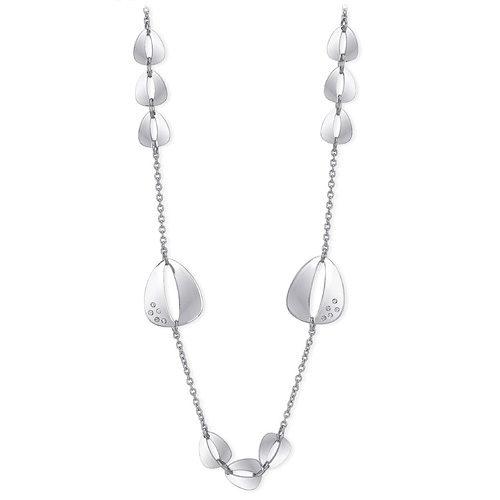 Collana Donna 2Jewels collezione Flat 251661 in acciaio 316L con cristalli. Lunghezza 90 cm.