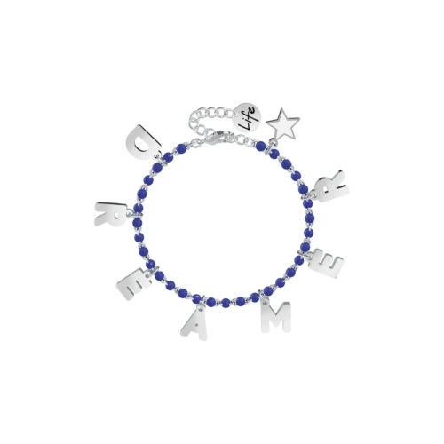 Bracciale donna Kidult 751585 Dreamer , realizzato in acciaio 316L anallergico con sfere smaltate e lettere pendenti. Assoluta novità Kidult 2020.