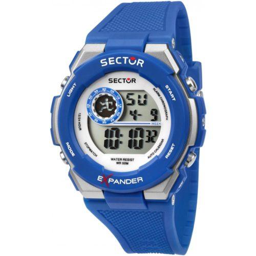 Orologio digitale uomo Sector R3251537003. Orologio digitale sector con cinturino in gomma rigido blu . Il quadrante è di 40 mm. Presenta le seguenti funzioni: cronografo, allarme , calendario e retroilluminazione. La resistenza All'acqua è di 5 atm.