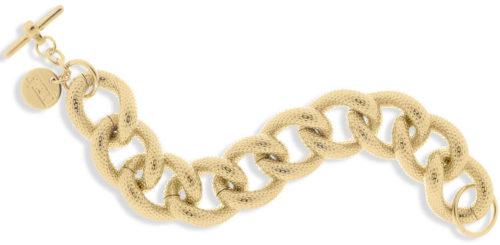 Bracciale donna Unoaerre 000EXB1905000 della collezione Bronze .Bracciale di catena grumetta con maglie godronate mis. 20. Fa parte della serie di Gioielli Unoaerre fashion Jewellery.