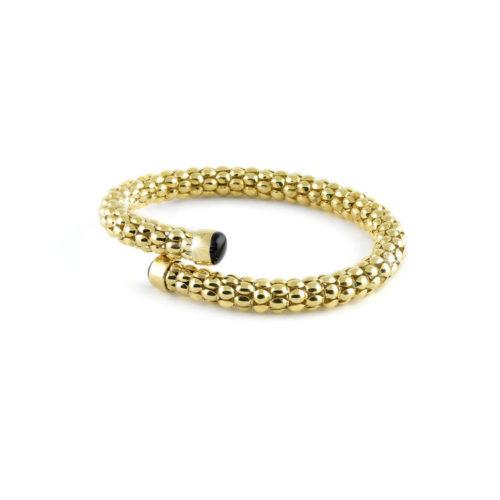 Bracciale donna Unoaerre 000EXB4384000G della collezione bronze. Bracciale rigido realizzato in bronzo gold a catena pop corn , misura 18 cm. Fa parte della serie di Gioielli Unoaerre fashion Jewellery.