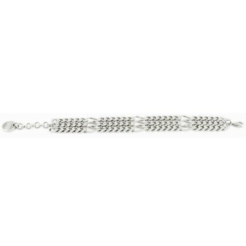 Bracciale Multifilo in Bronzo Silver 000EXB4444000B per donna della collezione Bronze. Bracciale in bronzo multifilo in Silver. Misura 19 cm. Fa parte della serie di Gioielli Unoaerre fashion Jewellery.