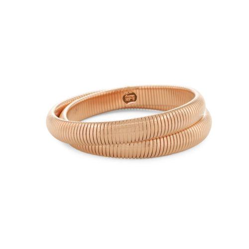 Bracciale donna Unoaerre 000EXB4460000R della collezione Bronze. Bracciale in bronzo rosè in maglia tubogas a doppio filo, misura unica. Fa parte della serie di Gioielli Unoaerre fashion Jewellery.