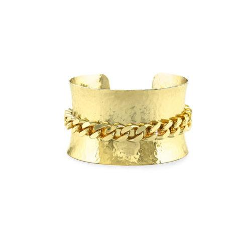 Bracciale rigido a schiava Unoaerre Donna 000EXB4480000G della collezione Bronze. Modello rigido in bronzo Gold a schiava impreziosito da centrale maglia grumetta. Fa parte della serie di Gioielli Unoaerre fashion Jewellery.