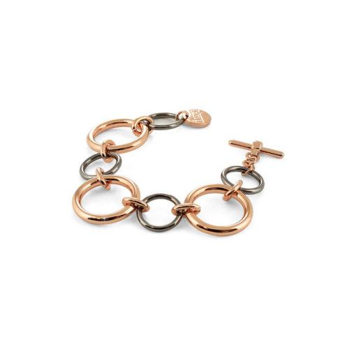 Bracciale Unoaerre Bicolore Donna 000EXB4495000 della collezione Bronze. Bracciale bicolore alternato con cerchi.Fa parte della serie di Gioielli Unoaerre fashion Jewellery.