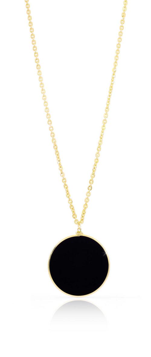 Collana Donna Unoaerre 000EXH4314000 della collezione Bronze . Collana in bronzo rosè lunga 82 cm con pendente rotondo e agata nera . Questo modello fa parte della serie di Gioielli Unoaerre fashion Jewellery.