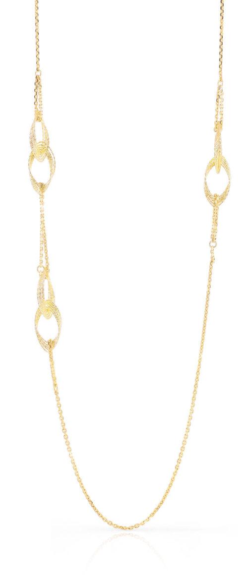Collana Donna Unoaerre 000EXH4434000 della collezione Bronze .Collana lunga con elementi ovali di filo alternati mis. 105cm. Questo modellofa parte della serie di Gioielli Unoaerre fashion Jewellery.