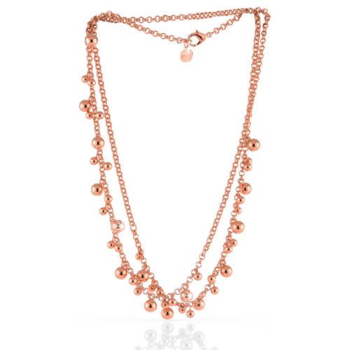 Collana Donna Unoaerre 000EXH4734000R della collezione Bronze Collana rosè lunga impreziosita da grappoli di palline lucide mis. 94 Questo modellofa parte della serie di Gioielli Unoaerre fashion Jewellery.