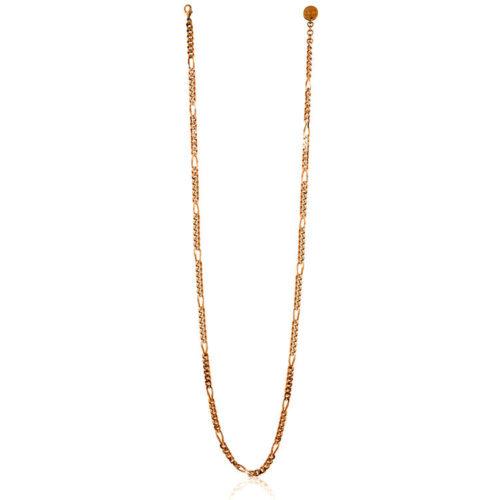 Collana Donna Unoaerre 000EXH4864000R della collezione Bronze. Elegante collana in bronzo rosè lunga con maglia figaro diamantata. mis. 92.Questo modellofa parte della serie di Gioielli Unoaerre fashion Jewellery.