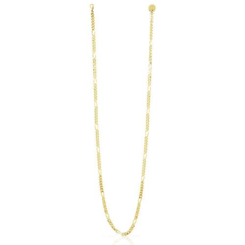 Collana Donna Unoaerre 000EXH4864000G della collezione Bronze. Elegante collana in bronzo gold lunga con maglia figaro diamantata. mis. 92.Questo modellofa parte della serie di Gioielli Unoaerre fashion Jewellery.