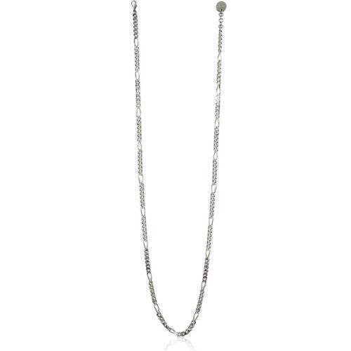 Collana Donna Unoaerre 000EXH4864000B della collezione Bronze. Elegante collana in bronzo silver lunga con maglia figaro diamantata. mis. 92.Questo modellofa parte della serie di Gioielli Unoaerre fashion Jewellery.