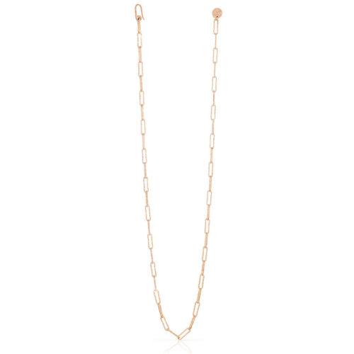 Collana Donna Unoaerre 000EXH4874000 della collezione Bronze. Collana lunga rosè realizzata in catena paper chain.Questo modellofa parte della serie di Gioielli Unoaerre fashion Jewellery.
