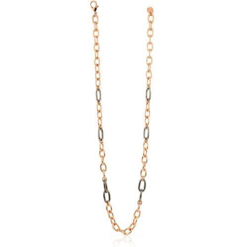 Collana Donna Unoaerre 000EXH4895000 della collezione Lipari . Collana Lunga mis 90 cm con catena forzatina bicolore alternato. Questo modellofa parte della serie di Gioielli Unoaerre fashion Jewellery.