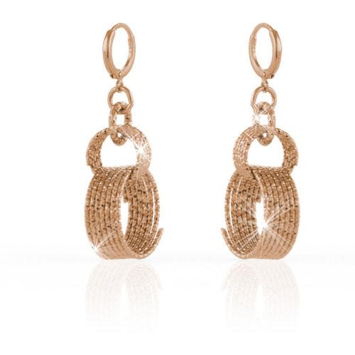Orecchini Donna Unoaerre 000EXO4011000Rdella collezione Classica.Orecchini pendenti Rosè con spirali di fili diamantati. Fanno parte della serie di Gioielli Unoaerre fashion Jewellery.