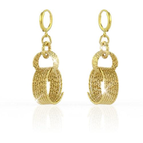 Orecchini Donna Unoaerre 000EXO4011000Gdella collezione Classica.Orecchini pendenti con spirali di fili diamantati. Fanno parte della serie di Gioielli Unoaerre fashion Jewellery.
