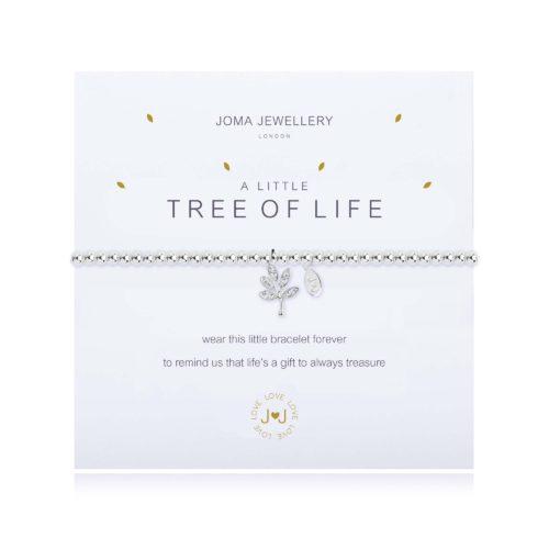 """Bracciale donna Joma 1830. Bracciale della collezione """"A little"""" in ottone placcato argento con piccolo charme a forma di albero della vita. Lunghezza 17,5 cm."""