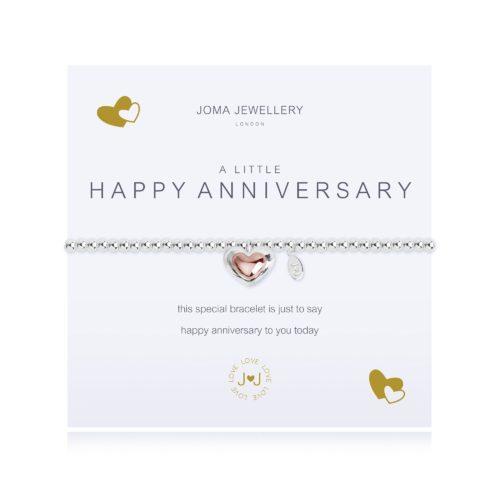 """Bracciale donna Joma 2081. Bracciale della collezione """"A little"""" in ottone placcato argento e oro rosa con piccolo charme a forma di cuore. Lunghezza 17,5 cm."""