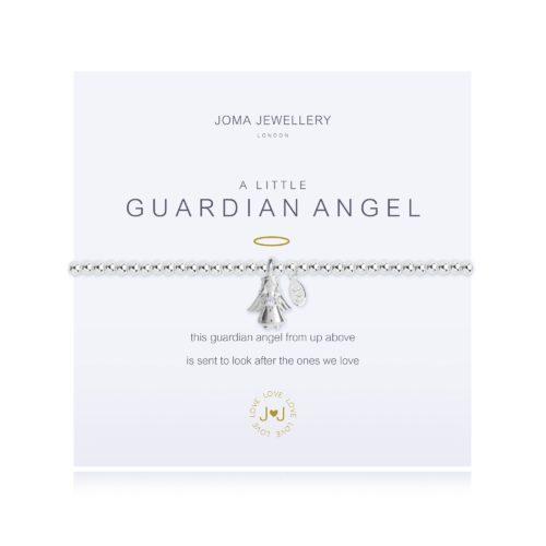 """Bracciale donna Joma 2273. Bracciale della collezione """"A little"""" in ottone placcato argento con piccolo charme a forma di angelo custode. Lunghezza 17,5 cm."""