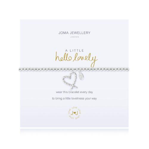 """Bracciale donna Joma 2274. Bracciale della collezione """"A little"""" in ottone placcato argento con piccolo charme a forma di cuore. Lunghezza 17,5 cm."""