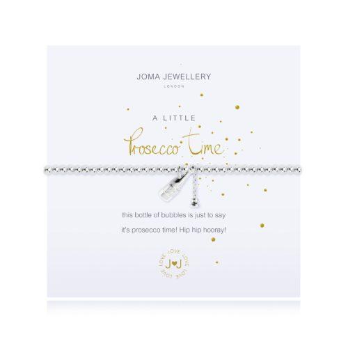 """Bracciale donna Joma 2436. Bracciale della collezione """"A little"""" in ottone placcato argento con piccolo charme a forma di bottiglia di bolle. Lunghezza 17,5 cm."""