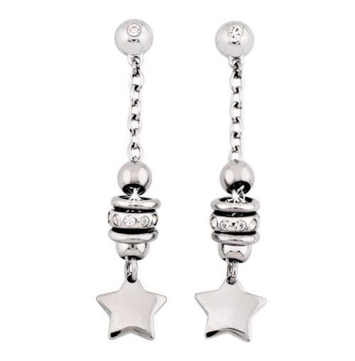 Orecchini Donna San Valentino 2Jewels 261088 della collezione San Valentino.Orecchini pendenti in acciaio inossidabile con stelle e zirconi .