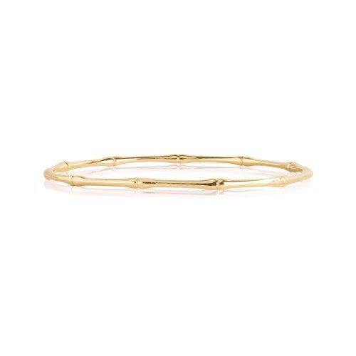 Bracciale donna Joma 2627. Braccialetto in ottone placcato in oro a forma di bambù dorato. Diametro: 6,5 cm.