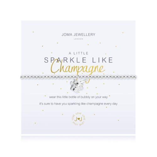 """Bracciale donna Joma 2675. Bracciale della collezione """"A little"""" in ottone placcato argento con piccolo charme a forma di bottiglia di spumante. Lunghezza 17,5 cm."""
