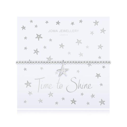 Bracciale donna Joma 2784. Braccialetto elastico della collezione Shine Bright in ottone placcato in argento con charme a forma di stella.