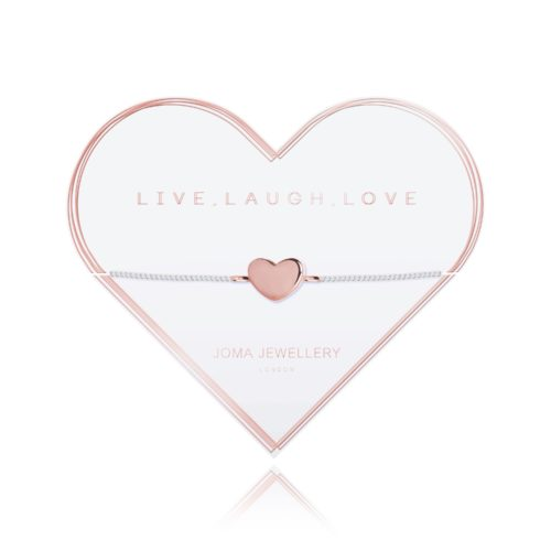 Bracciale donna Joma 2789. Braccialetto della collezione A Little Love in ottone placcato in argento con elemento a forma di cuore rosato.