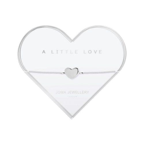 Bracciale donna Joma 2791. Braccialetto della collezione A Little Love in ottone placcato in argento con elemento a forma di cuore argentato.